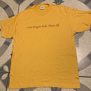 NWOT Early 2000s LOTR Lord Of The Rings Promo Tee